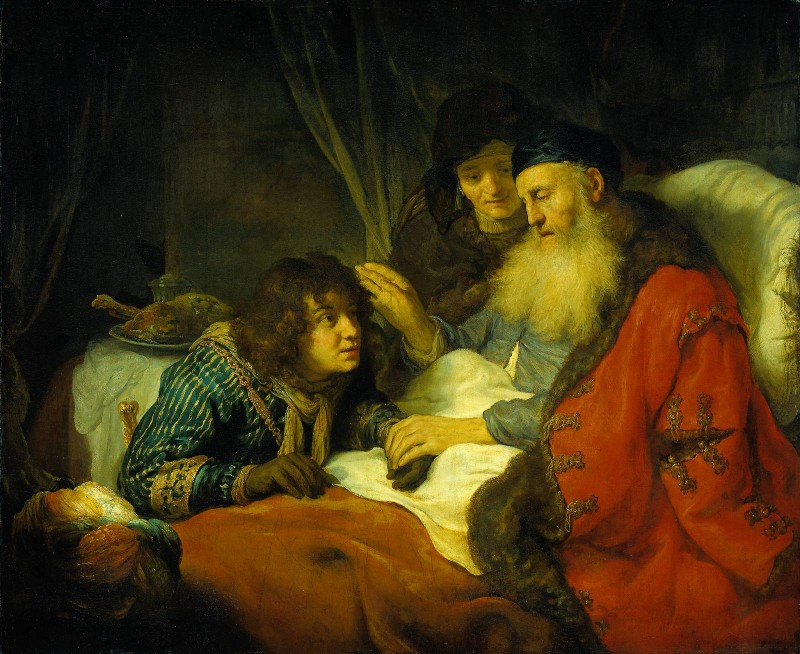 """Isaac Blessing Jacob"" by Govert Flink"