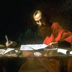 """Saint Paul Writing His Epistles"" by either Valentin de Boulogne or Nicolas Tournier (Wikipedia)"