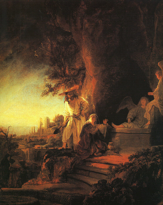 """""""The Risen Christ Appearing to Mary Magdalen"""" by Rembrandt"""