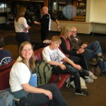At the airport in Dillon with Andy, Carol, and Clayton. It was great to spend some time with them.
