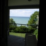 The view from our room. That's Lake Ontario.